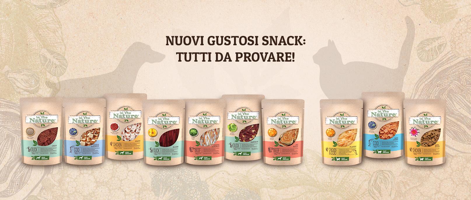 Nuovi gustosi snack In The Nature®
